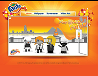 Fanta Egypt 2009 Landing page