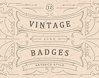 Vintage Line Badges - FREE