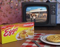 Eggos Packshot | 3D animation