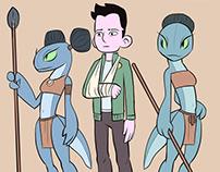 Fresco::Odd Orbits Comic Characters