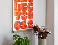 Typographic Seasonal Calendar