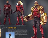 Corporal Seyit (Character Design Sheet)