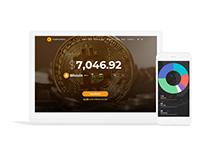 Cryptocurrency WordPress Theme - Responsive