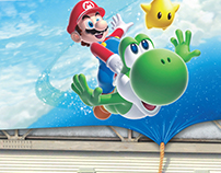 Super Mario Galaxy 2 launch billboard