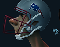 Character Design Explorations 2017: NFL Networks