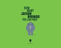 The Javan rhinos need your help!