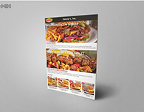 Brochure design For Denny's, Inc