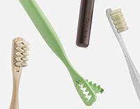 Everloop Toothbrush with replaceable bristles