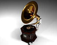 3D Gramophone Model