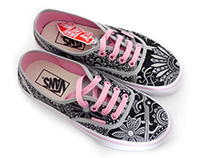 Deco Shoes Vans Sneakers handmade paint