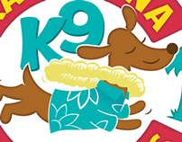 Kama'aina K9 Adventures Dog Park logo and map