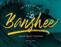 BANSHEE BRUSH SCRIPT - FREE BRUSH FONT