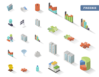 Accounting Isometric Free Icon Set x30