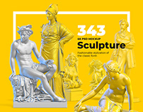 343 Sculptures for branding and design of your product