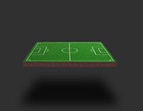 Soccer Field 3D Concept