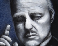 Airbrush  the godfather in the jacket