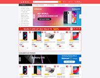 UI/UX homepage website Ecommerce