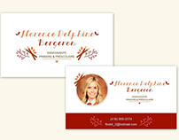 Carte de visite - Florence Delphine Bergeron