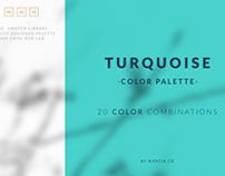 Turquoise Color Palette & Free Affinity Designer Palete
