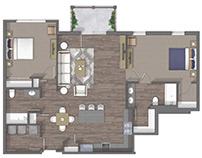 Floor plan 2D rendering