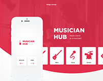 Musician Hub. Design Concept