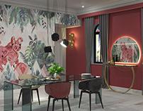 Flamingo dining room