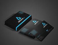 Simple Creative Black Business Card