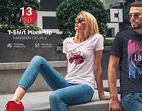T-Shirt Mock-Up Bangkok Couple