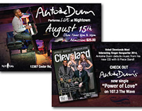Antoine Dunn's promotional Materials