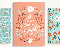 Floral collection with placement graphic