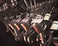 V8 Engine Full Rig