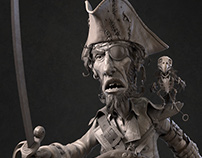 Pirate Hipoly Sculpt