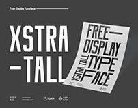 Xstra Tall - Free Condensed Sans serif Dislpay typeface