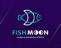 Logotipo para loja infantil Fishmoon de Cabreúva SP