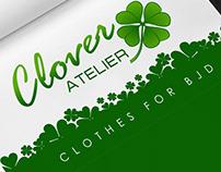 Отрисовка лого в вектор, визитка для Clover Atelier
