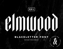 Elmwood Blackletter Display Font