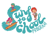Surf to School Program Logo