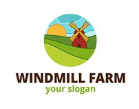 Windmill Farm Logo Template