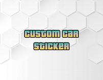 Custom Car Sticker