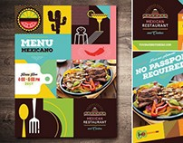 Mexican Food Restaurant Menus & Advertisements