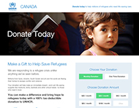 Donate Page Redesign for UNHCR Canada