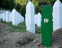 In Srebrenica Genocide Memorial: some new graves