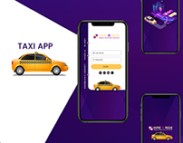 Taxi Mobile Application Login Screen