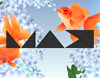 MAX CHALLENGE - 金魚と紫丁香花