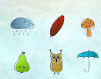 Autumn - book illustration