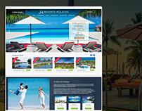 Website design for resort business