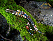 THE ELVEN KING Smoky Quartz Crystal Wand