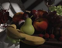 Fruit still life_Maya Mentalray render