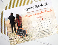 Save the Date for Mr. & Mrs. Kanda.