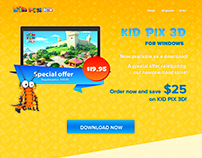 Product page for kids app